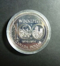 1 Dollar 1974 100 Jahre Winnipeg in Originalkapsel ST Stempelglanz !!!!~
