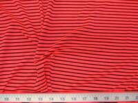 Fabric Printed Nylon Spandex Hot Pink and Black Stripe LY708