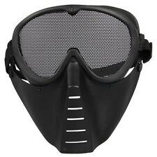 Mask Airsoft protective Mask Paintball Black field survival Tactical hardplastic