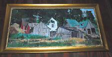 John Berkey Original Oil Painting Framed Fine Art  Shacks Excelsior MN Minnesota