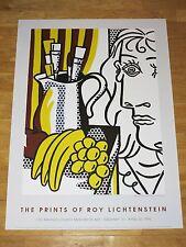 """ROY LICHTENSTEIN POSTER """" STILL LIFE WITH PICASSO """" POP ART EXHIBITION in MINT"""