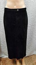 c7a1c653b7 NEW Women's Ralph Lauren Polo Black Suede Long Maxi Pencil Skirt 12P NWT