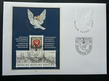 Switzerland Basler Taube National Stamp Exhibition 1995 Bird Dove Peace (ms FDC)