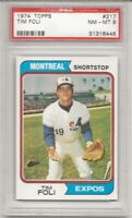SET BREAK - 1974 TOPPS #217 TIM FOLI, PSA 8 NM-MT, MONTREAL EXPOS, L@@K !