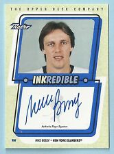 MIKE BOSSY 1999/00 UPPER DECK RETRO INKREDIBLE SIGNATURE AUTOGRAPH AUTO
