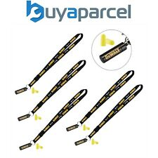 5x Dewalt Neck Strap Tool Lanyard Safety Card Id Badge Holder + Ear Plugs + Case