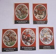1972 Sunoco / Nfl Football Stamps - Atlanta Falcons - Lot Of 5 rare