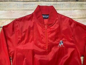 Starter NEW ENGLAND PATRIOTS Windbreaker Jacket Vtg 80s NFL Football MEDIUM Rare