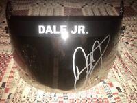 Dale Earnhardt Jr Autograph Signed full size helmet Visor  JSA coa