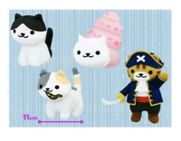 Nekoatsume Plush Vol 18 hanging on bag All 4 set doll Stuffed Animal Toy Japan