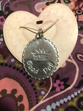 ENGRAVABLE GOOD DOG COLLAR TAG .925 STERLING SILVER BY BRIGHTON  USA 1 X 1.5 NEW