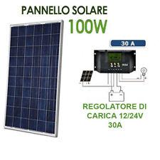 KIT 100W PANNELLO ENERGIA SOLARE FOTOVOLTAICO REGOLATORE CARICA 30A CAMPER CASA
