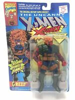1993 TOY BIZ THE UNCANNY X-MEN X-FORCE GRIZZLY ACTION FIGURE MOC