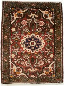 Semi Antique Tribal Design Rusty Red 2X3 Small Farmhouse Oriental Rug Carpet