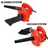3.5A Corded Electric Leaf Blower Sweeper Vacuum Cleaner Toolman