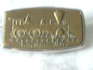Anson Young America 1834 Train Money Clip Brass & Stainless-Pre-Owned