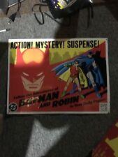 BATMAN AND ROBIN DAILY COMICS KITCHEN SINK PRESS TIN METAL ADVERTISING SIGN 1990