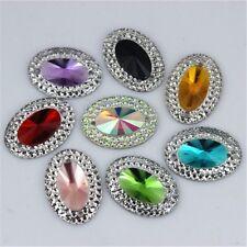 40pcs Crystal Oval Resin Rhinestones Flat Back Beads Gem Appliques/Craft/Wedding