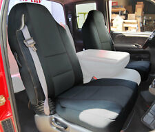 DODGE RAM 1998-2002 BLACK S.LEATHER CUSTOM MADE FIT FRONT SEAT COVER