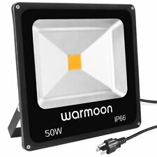 Warmoon 50W LED Flood Light Daylight White,150W Halogen Bulb Equivalent Super