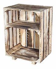 1x geflammter Nachttisch mit Boden,Beistelltisch, Nachtschrank,Obstkiste