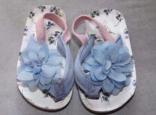 NEXT TODDLER GIRL 12+ MONTHS NEXT BLUE PINK  FLIP FLOPS BEACH SANDALS HEEL STRAP