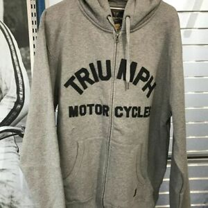 Triumph Motorcycle Men's Lavenham Zip Up Sweatshirt size 2XL