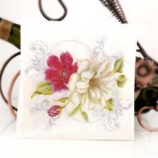 20pcs flower lily paper napkins serviette tissue party supply home H v!