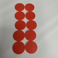 Set of 10 Othello Game Pieces Replacement Red and White Discs Chips Tokens Rare
