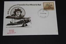 AUST 1981 60TH ANN FIRST OFFICIAL AIR MAIL VH-BAR A17-666 FLIGH SOUVENIR COVER