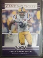 2020 Contenders Draft Picks - Clyde Edwards-Helaire Game Day Ticket KC Chiefs