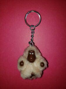 Kipling ~RYLEE~ Light Tan Fur Monkey Mini Keychain Bag Charm-VEUC!