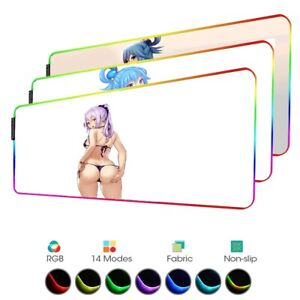 Hot  Anime Girl Buttock Gaming Mouse Pad Gamer RGB LED Large XXL Mat PC Laptop