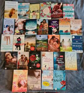 Liebesromane Taschenbuch Paket mit 30 Büchern - Buchpaket, Sammlung, Konvolut