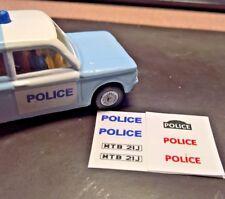 Corgi 506 Sunbeam Imp Police Car ,  Full Set of Stickers, No Car,