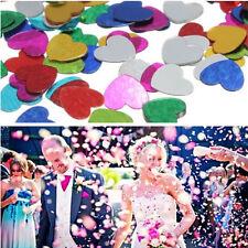 300pcs Coloridos Papel picado Confeti corazón amor decoración boda Fiesta bgvy