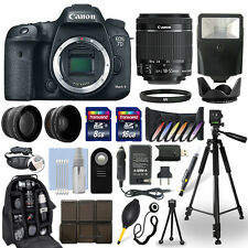 Canon 7D Mark II DSLR Camera + 18-55mm IS STM Lens + 24GB Multi Accessory Bundle