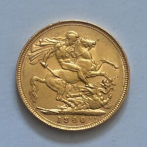 1900 Full Sovereign 22ct Solid Gold Queen Victoria Old Head & George Dragon