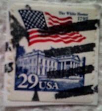 1992 Scott 2609 Flag and White House one used and cancelled 29 cent stamp