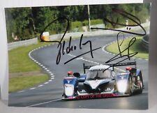 PHOTO cm 15x20 SIGNED by Lamy Pagenaud Bourdais PEUGEOT 908 LMP1 #3 LE MANS 2010