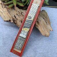 1970s NOS Brick Link Expandable Bracelet 17-22mm Watch Omega, Longines, Seiko