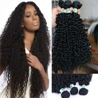 Mixed Length Brazilian Kinky Curly Synthetic Hair Extension Weaving Bundles---