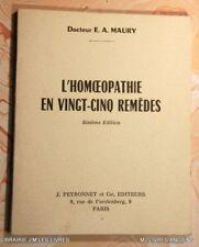 .(1646EM0.2) L'HOMOEPATHIE EN VINGT-CINQ REMEDES. E. A. MAURY. PEYRONNET. 1968