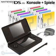 Nintendo DS Lite Handheld Konsole + Games / auch für GB Advance Spiele!
