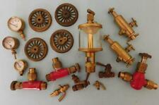 LOT2 Asst Bag Of Model Steam Engine Parts Valves Dials Gauges  Etc