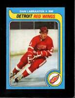 1979-80 TOPPS #92 DAN LABRAATEN EXMT RED WINGS NICELY CENTERED  *X5056