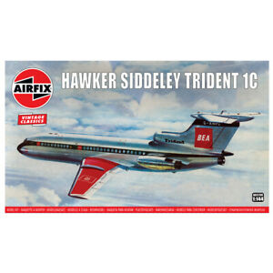 Airfix Hawker Siddeley Trident 1C Commercial Airliner Model Kit Scale 1/144