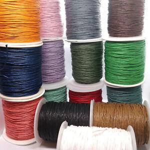 Wax Cotton Cord 1mm 10 Metres 20 Metres Jewellery Making Crafts String UK