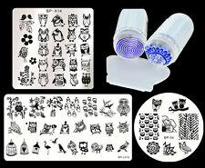 Owl Style Nail Art Stamping Template Plate with Stamper Scraper DIY Born Pretty