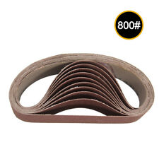 30x330mm Abrasive Sanding Belts 240/800 Grit Grinding Polishing Tools Hot